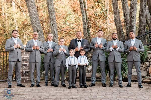 groom and his groomsmen at the Catawba Falls Event Center